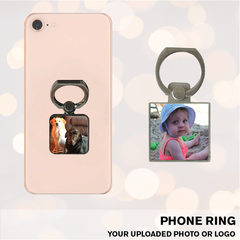 PERSONALIZED PHOTO COLLAPSIBLE PHONE GRIP & STAND