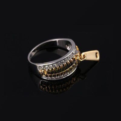 18K Gold-plated Zipper Ring