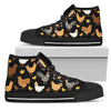 Chicken Lover High & Low Canvas Shoes