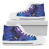 Galaxy German Shepherd High-Top Canvas Shoes