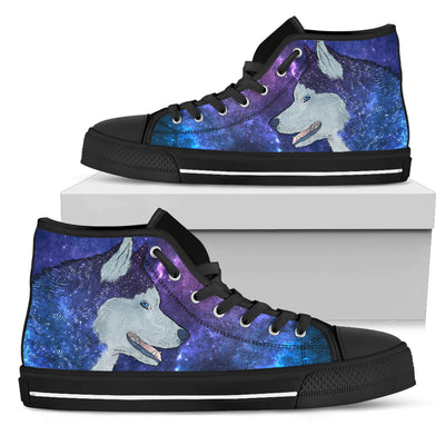 Galaxy Husky High-Top Canvas Shoes