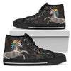 Unicorn Skeleton High & Low Canvas Shoes