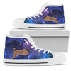 Galaxy Dachshund High-Top Canvas Shoes