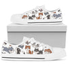 Husky Lover High & Low Canvas Shoes