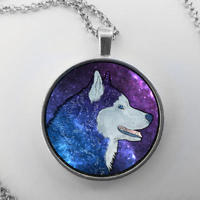 Galaxy Husky Necklace