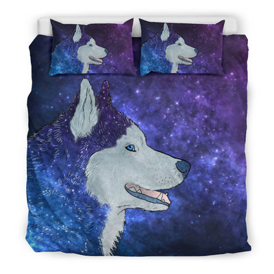 Galaxy Husky Bedding Set