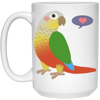 Pineapple Greencheek 15 oz. White Mug