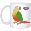 Pineapple Greencheek 11 oz. White Mug