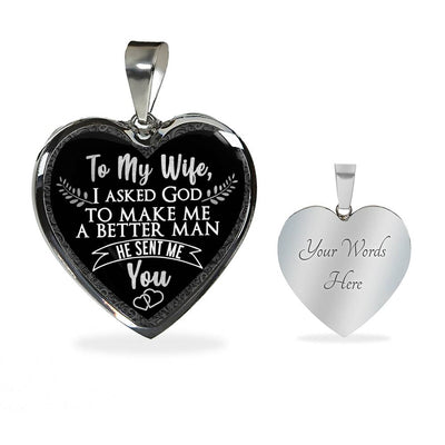 To My Wife Luxury Necklace
