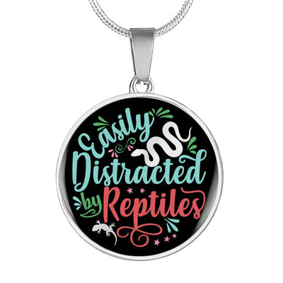 Easily Distracted by Reptiles Necklace