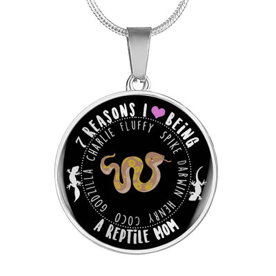 I Love Being a Reptile Mom Personalized Necklace