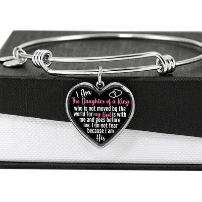 I Am The Daughter Of A King Heart Bangle
