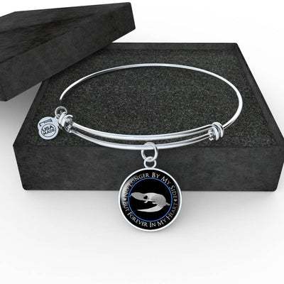 Blue-Tongued Lizard Forever In My Heart Luxury Bangle