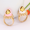 Handmade Hatching Chicken Ring