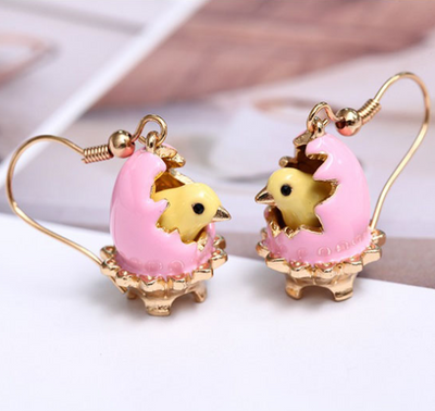 Handmade Hatching Chicken Earrings