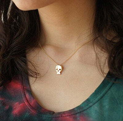 Dainty Skull Necklace