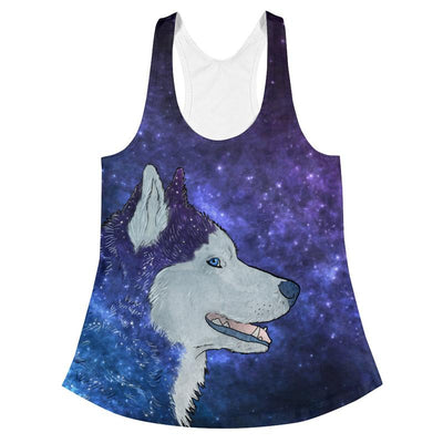 Galaxy Husky Handmade Graphic Tees & Tanks