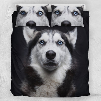 Azure-Eyed Husky Bedding Set