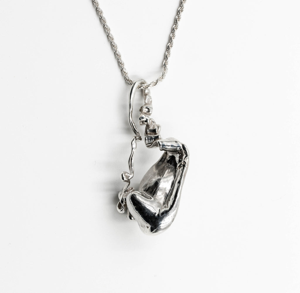 accessories karen millen pendant frnchs colour silver crystal ribbon