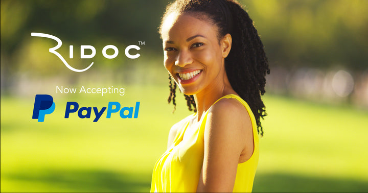 We now accept payment via Paypal!