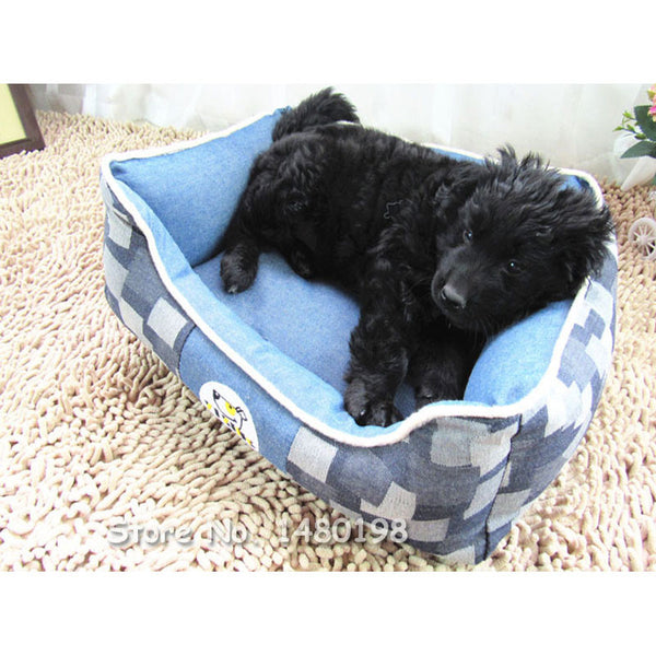 Friendly Paw Denim Jean Dog Bed