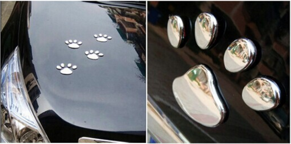 Friendly Paw 3D Paw Print Decal