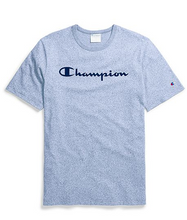 Load image into Gallery viewer, Champion Life® Unisex Mock Twist Tee, Velour Script Logo