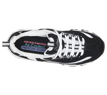Load image into Gallery viewer, SKECHERS - D'LITES - BIGGEST FAN BLACK/WHITE