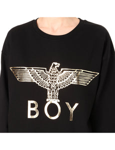 BOY LONDON Metallic Eagle logo cotton-jersey sweater