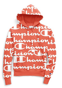 Champion Life® Unisex Reverse Weave® Pullover Hood, All-over Logo