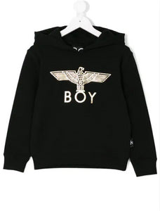 BOY LONDON KIDS logo print hoodie