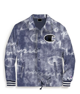 Champion Life® Men's Printed Satin Coaches Jacket, Big C Logo