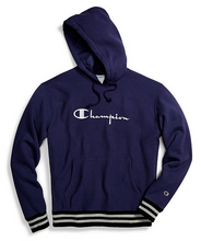 Load image into Gallery viewer, Champion Life® Unisex Reverse Weave® Yarn Dye Rib Trim Pullover Hoodie, Vintage Logo