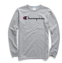 Load image into Gallery viewer, Champion Life® Men's Long-Sleeve Tee, Ink Script Logo