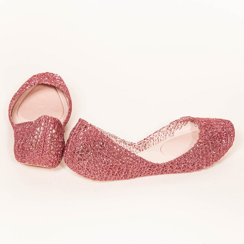 Melissa - CAMPANA ZIG ZAG Jelly Shoes Pink