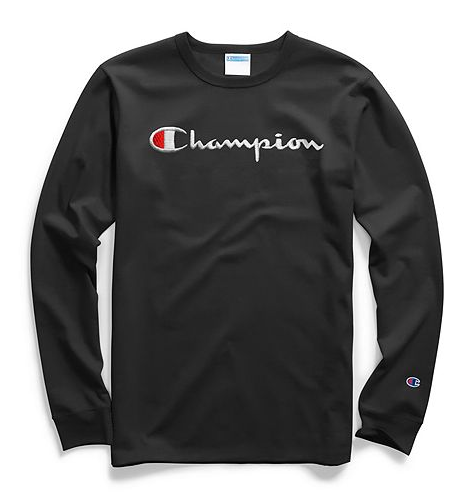 Champion Life® Men's Long-Sleeve Tee, Script Logo
