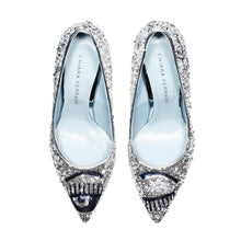 "Load image into Gallery viewer, Chiara Ferragni - SILVER PAILLETTES ""FLIRTING"" PUMPS"