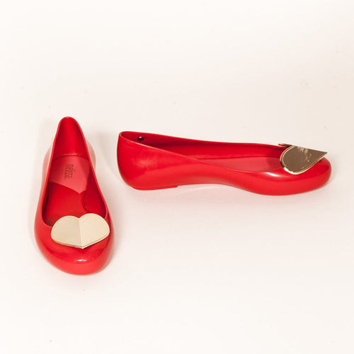 Melissa - SPACE LOVE SPECIAL jelly flats in Red