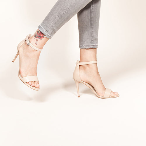 Nine West - MANA High Heel Sandals in Nude