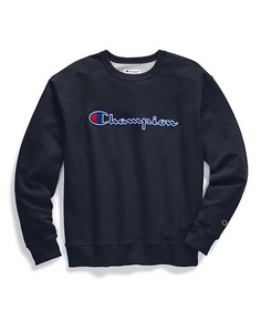 Champion Chain Stitch Script Crew-Neck Sweatshirt