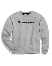 Load image into Gallery viewer, Champion Unisex Powerblend® Crew Script Logo