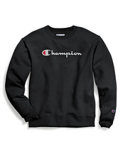 Load image into Gallery viewer, Champion Unisex powderblend crew script Logo
