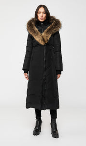 Kaylan Maxi Down Coat- Natural Fur