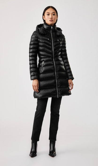 Lara Lightweight Down Coat-  Removable Hood