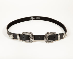 B-LOW - Baby Bri-Bri Belt in Black & Silver