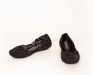 Melissa - CAMPANA ZIG ZAG Jelly Shoes in Black