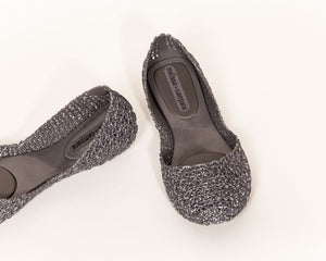 Melissa - CAMPANA ZIG ZAG Jelly Shoes in Silver