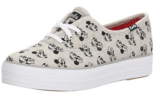 Keds Triple Minnie Screen Print Jersey Fashion Sneaker