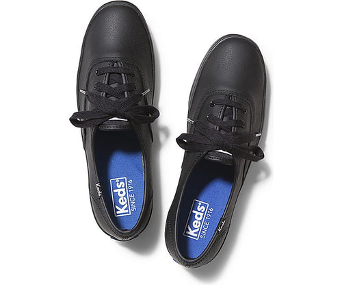 Keds - CHAMPION ORIGINALS LEATHER BLACK