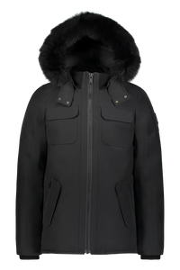 Lingan Jacket - Black/Black Fox Fur